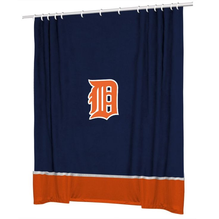 DETROIT TIGERS SIDELINES SHOWER CURTAIN TIGERS. 8 best Detroit Tigers Baseball Room images on Pinterest   Boy