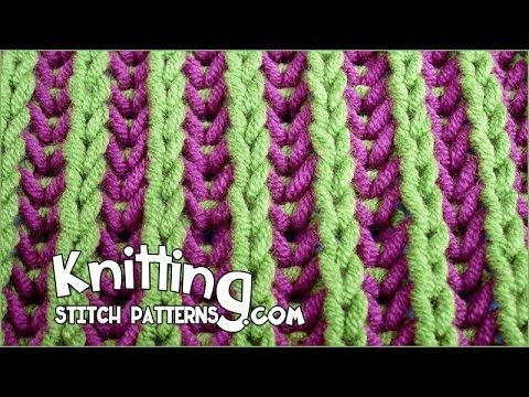 Two-color Brioche Stitch - YouTube
