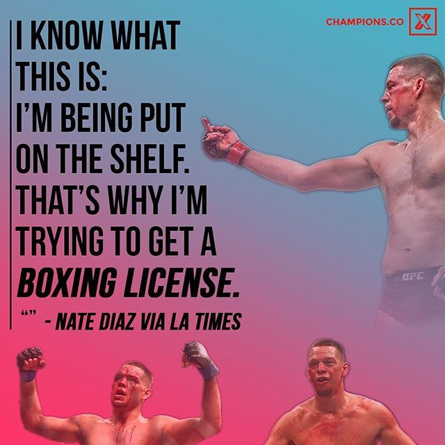 """According to the Times, Dana White stated """"Nate said the only fight he wants is Conor … I haven't heard a word from him [since August]. Usually, when guys want a fight, they call."""" Do you want to see Nate Diaz fight McGregor later or fight someone else now? Like and comment below ⬇️⬇️"""