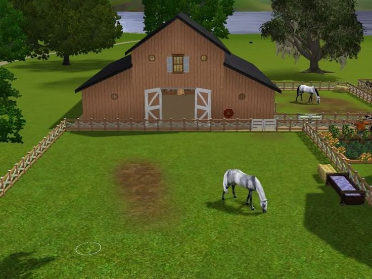 Adoreible sims 3 horses horse barn grazing fields for Garden design sims 4