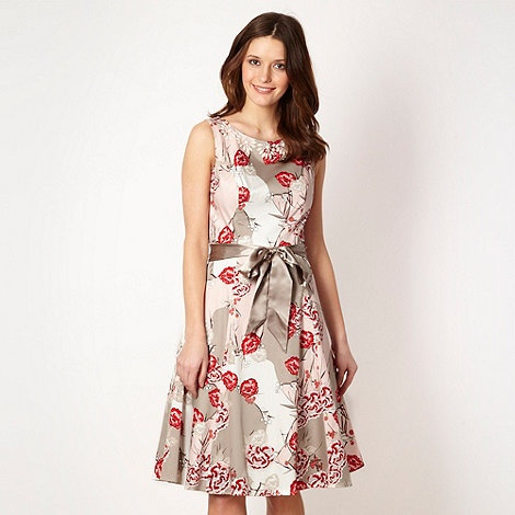 John Rocha Designer Light Grey Oriental Flower Prom Dress At Debenhams Dresses For Weddingwedding Guest