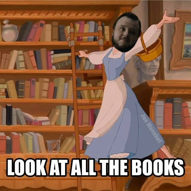 25 Reasons to Watch Game of Thrones This is perfect!!! Sams my favorite! And I was definitely jealous when he walked into that library :)