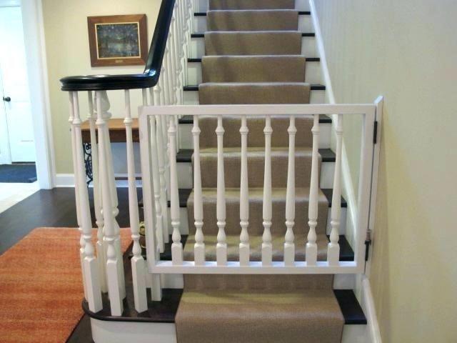 Top Of Stairs Baby Gate No Drill In 2020 Diy Baby Gate Banister | Top Of Stairs Banister | High End | Indoor | Barn Beam | Redo | Glass
