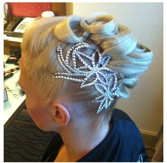 Ballroom hair for dance competition