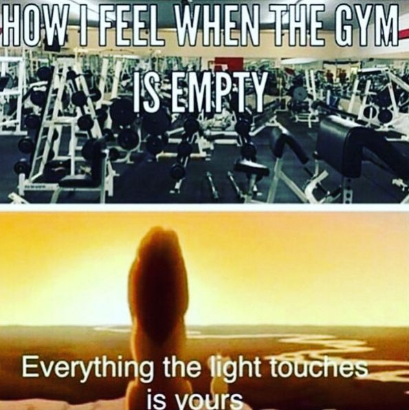 Nothing makes you happier than actually getting to work out during off-peak times. | 20 Things Everyone Who's Slightly Obsessed With Lifting Will Understand