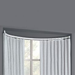 bow window flexible curtain rod kit 17 best ideas about bow window curtains on pinterest