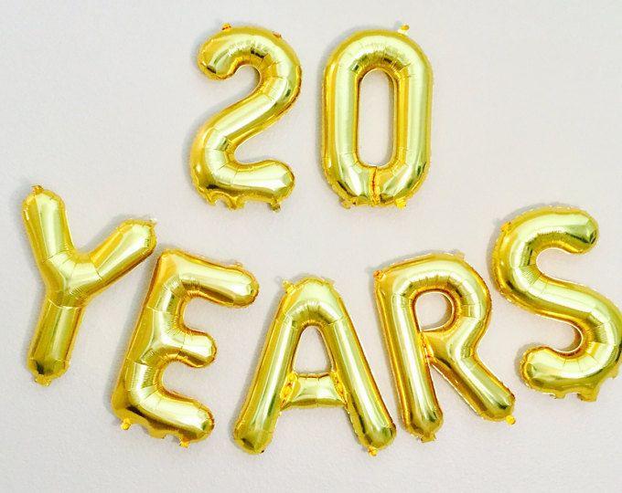 Globo de 20 años, 20 aniversario foto Prop, 20 aniversario, día 20, felices 20, 20 globo, celebración del 20, oro 20, reunión de clase 20