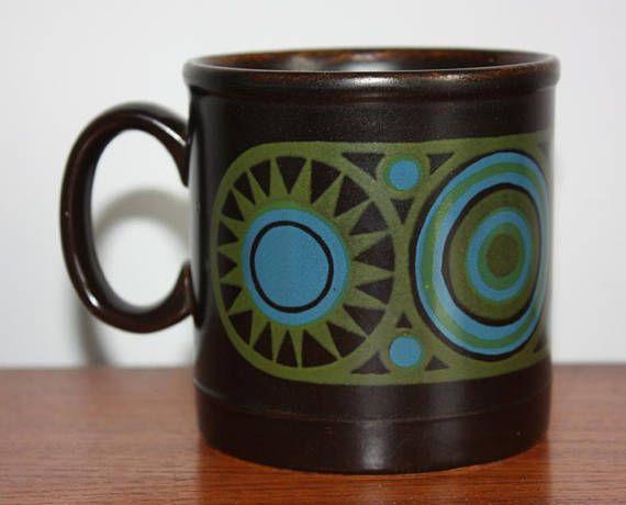 Vintage 1970s Staffordshire Potteries Retro Mug