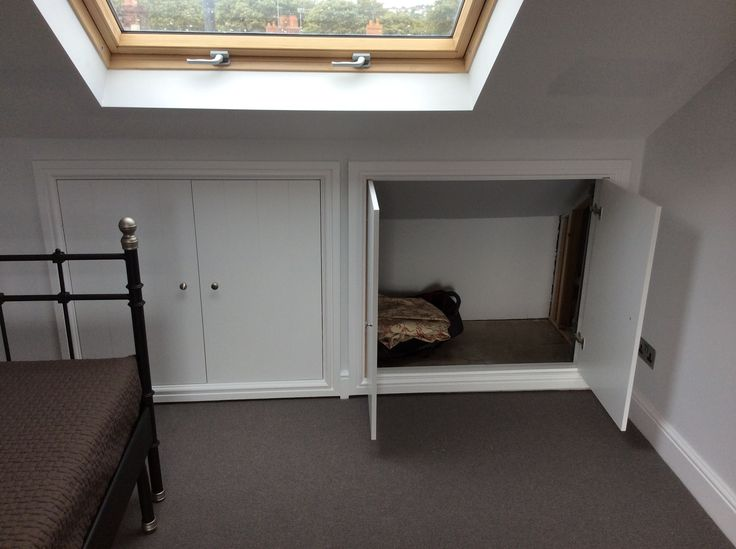 cupboards in the eaves