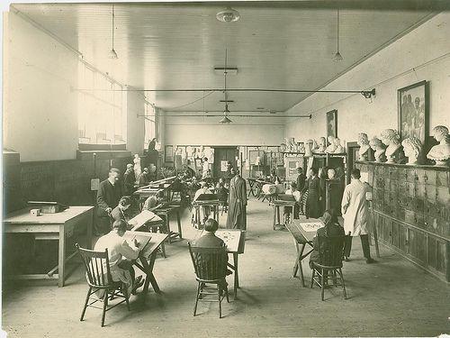 1920s Art illustration class.#tafe #education #geelong #learning