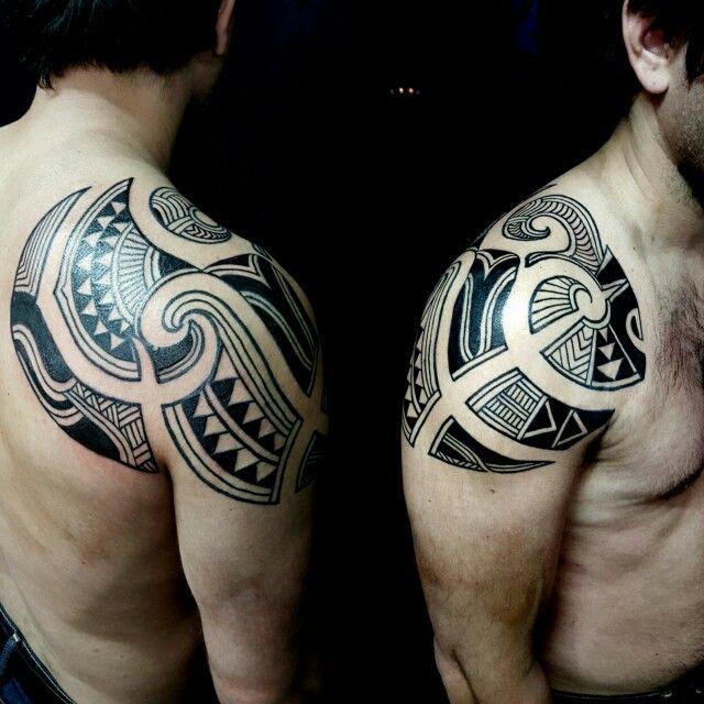 Tribal black borneo fusion argentina buenosaires tatuaje tattoo negro linea line patron