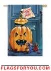 Halloween Pumpkin surprise House Flag - 3 left