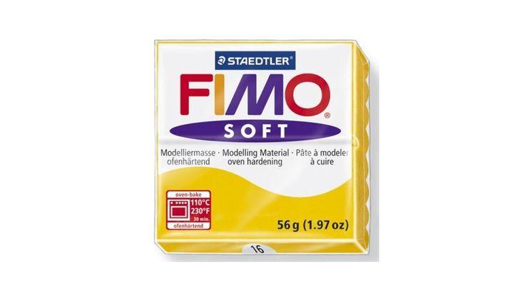 Fimo Soft süthető gyurma 56g Napsárga / Sunflower 16 - Csinálj Ékszert Ékszerkellék Webáruház