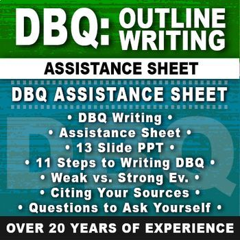 dbq writing tips The dreaded dbq, or document-based question, is an essay question type on the ap history exams (ap us history, ap european history, and ap world history) for the dbq essay, you will be asked to analyze some historical issue or trend with the aid of the provided sources, or documents, as evidence.