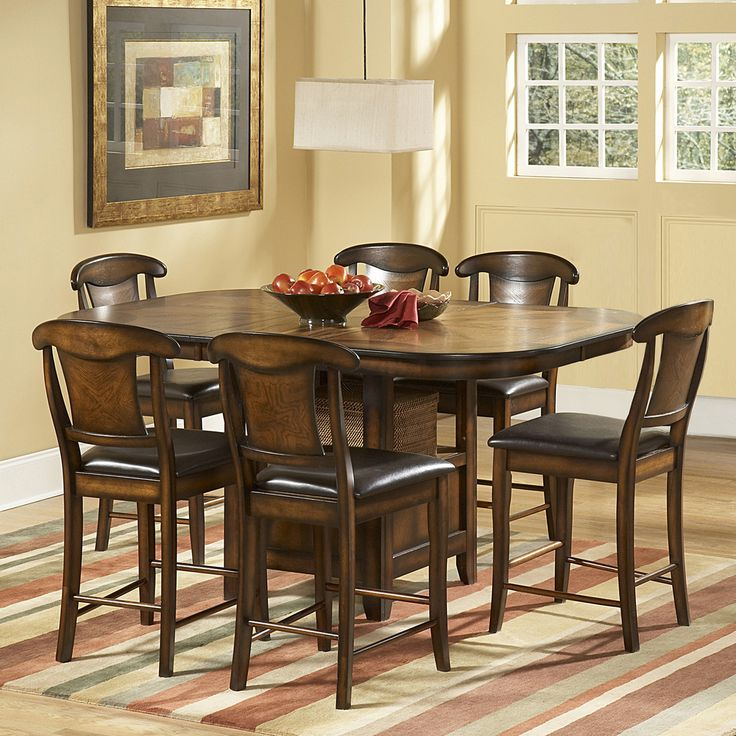 TRIBECCA HOME Glenbrook 7 Piece Counter Height Dining Set by