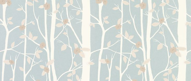 Cottonwood Duck Egg Leaf Wallpaper at Laura Ashley