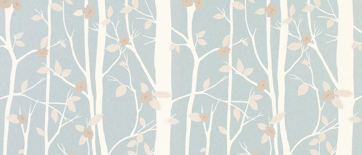 cottonwood duck egg leaf wallpaper at laura ashley. Black Bedroom Furniture Sets. Home Design Ideas