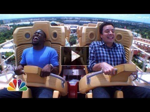 Jimmy Fallon challenges Kevin Hart to conquer his fears of roller coasters while they're hanging out at Universal Orlando Resort. It is super funny.