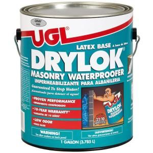 Drylok is a masonry waterproofing paint that many people use to paint styrofoam headstones and other styrofoam structures (columns, archways, mausoleums, statues, etc.) to make them look like stone.I generally use the gray colored drylok as a base. Drylok has what appears to be grains of sand in it and imparts the look and feel of stone.