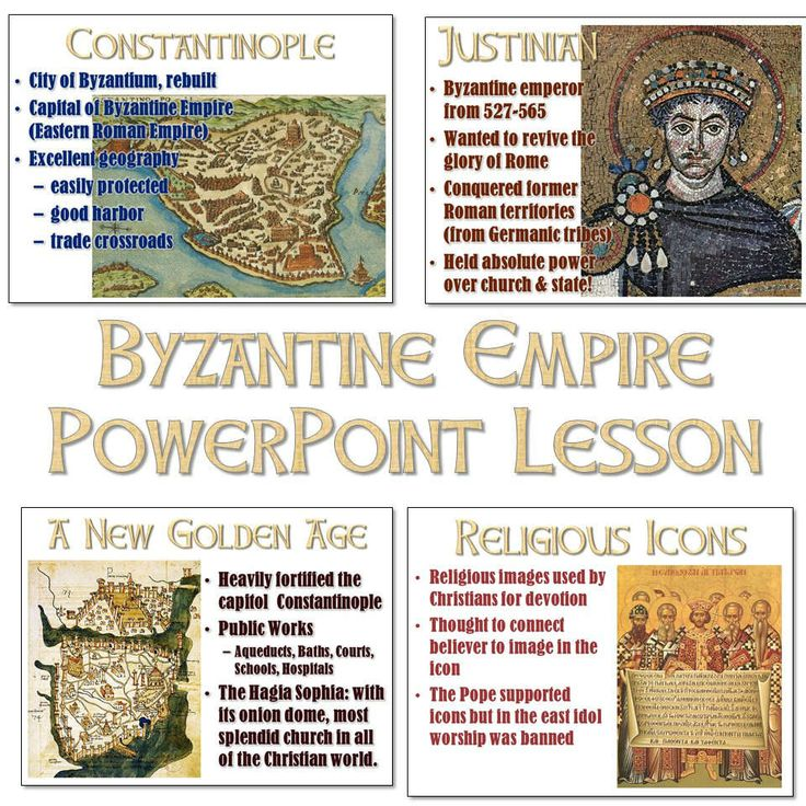 Classroom Presentation Ideas ~ Byzantine empire and constantinople powerpoint world