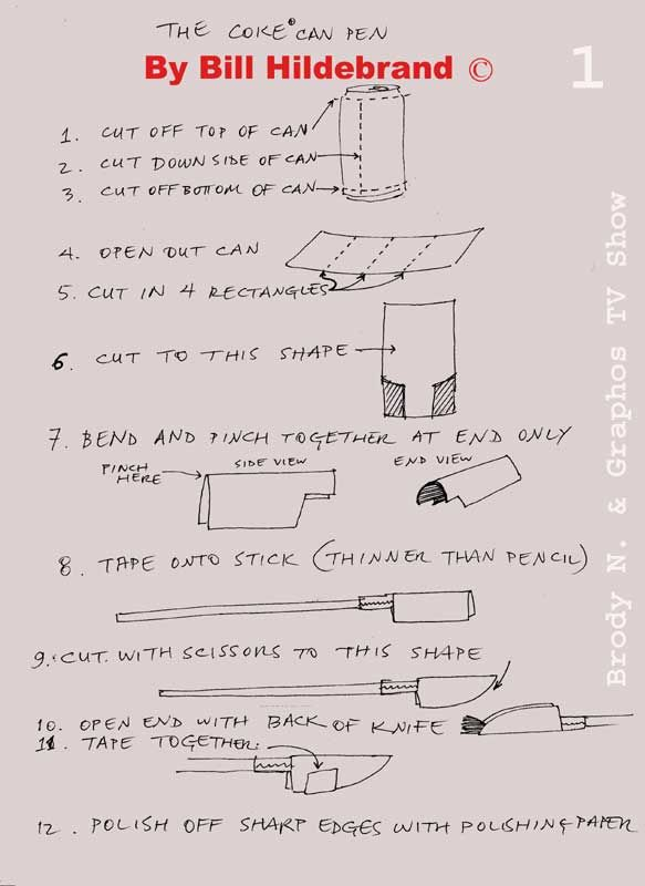 Cola Pen Instructions And Use Calligraphy Folded
