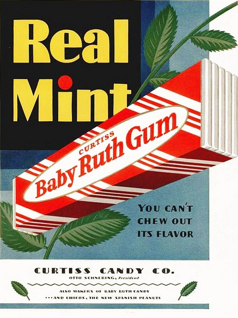 ...so don't you even try! :D #vintage #1920s #gum #ad #food #mint
