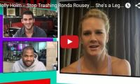 Holly Holm — Stop Trashing Ronda Rousey … She's a Legend What'd we tell ya – everyone's been dissing Ronda Rousey since the defeat. Everyone but Holly Holm that is. Spoken like a true champion, Holly tells TMZ Sports how she has a lot of respect for Ronda but also how they differ…