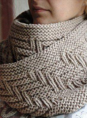 Схема шарфа-снуда «Рыбий хвост»