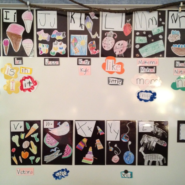 Kid-did alphabet and word wall. @darlamyersclass