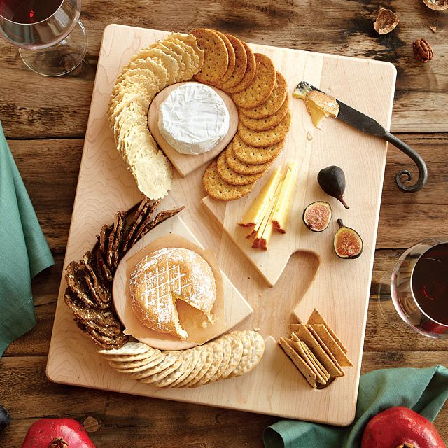 Cheese & Crackers Serving Board. This solves a real problem - cracker scatted, and it's clever.