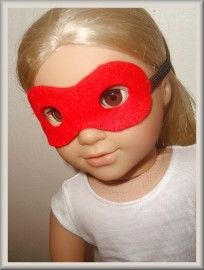 Free pattern to make American Girl super hero mask.