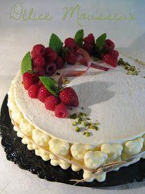 J'en reprendrai bien un bout...: Délice Mousseux - Rhubarbe, Fruits Rouges & Tonka - (sans gluten)