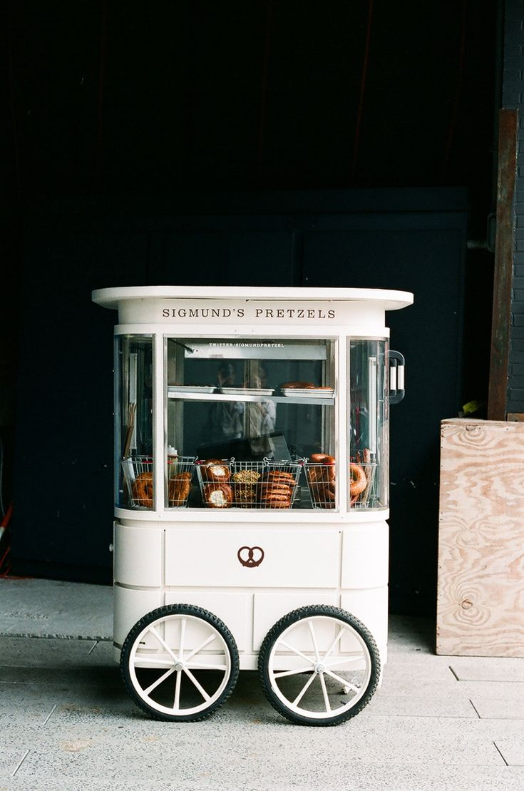 Sigmund's Pretzel cart on High Line, NYC