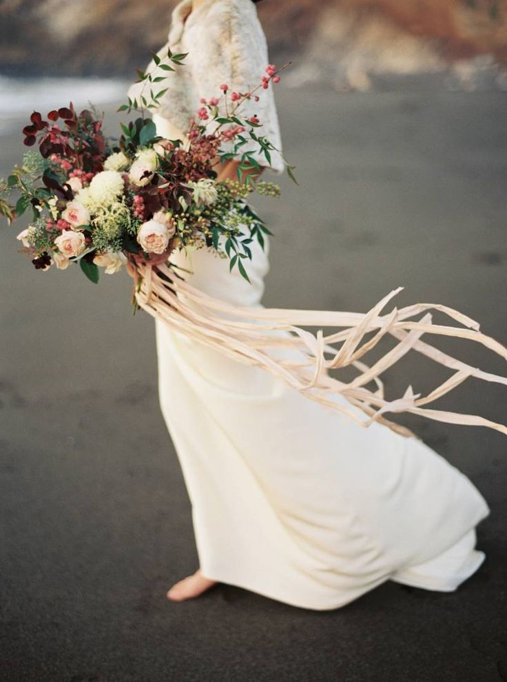 Strikingly beautiful bridals on the California Coast via Magnolia Rouge