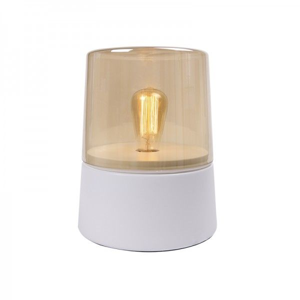 Hale Table Light Transparent Cylindrical Shaped