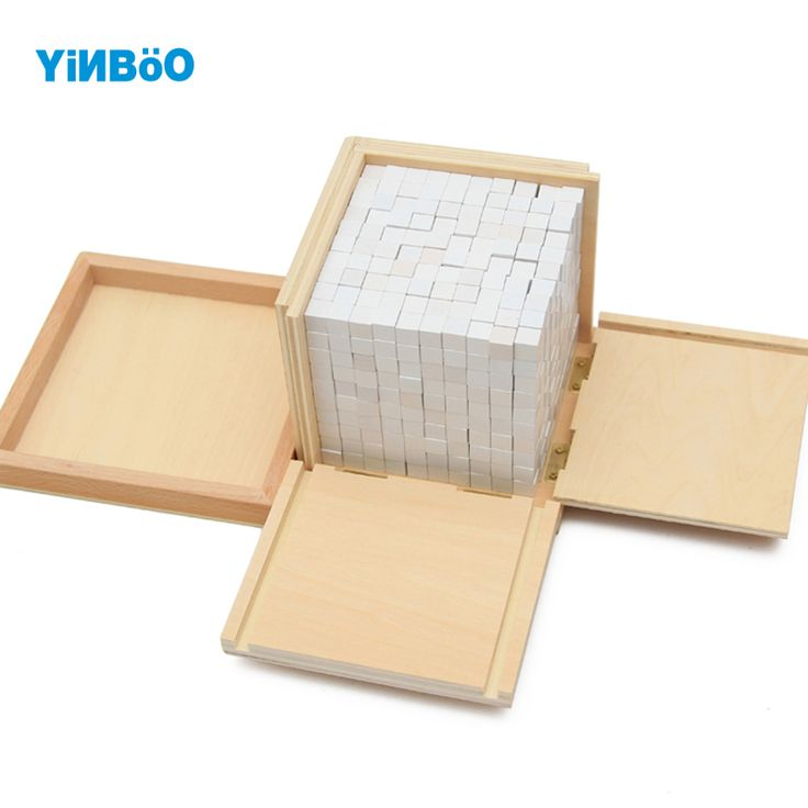 Montessori Educational Wooden Toy Volume Box with 1000 Cubes for Early Childhood Preschool Training Kids Toys Brinquedos-in Math Toys from Toys & Hobbies on Aliexpress.com | Alibaba Group