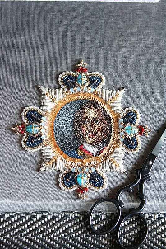 Pendant brooch of Peter the Great. Not a tutorial as such, but a detailed pictorial record from sketch to completion.