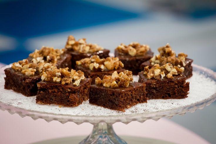 Brownies med salt karamell og pekankrønsj - Franciskas Vakre Verden