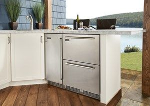 "Perlick launches the first 24"" Dual-Zone Undercounter Refrigerator and Freezer Drawer Unit UL Rated for Outdoor Use"