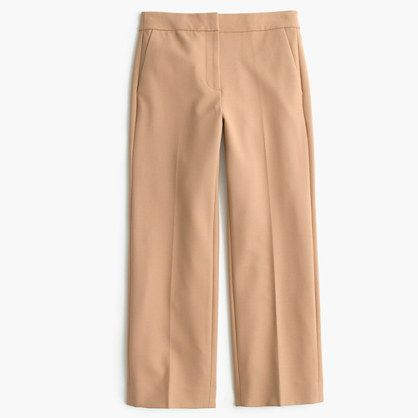 """Also known as the """"oh, so that's the pair my wardrobe has been missing"""" pant. Cropped, streamlined and seriously chic in bi-stretch wool (not to mention seriously easy to wear, thanks to the drapey fabric), this wide-leg trouser is where pulled-together begins. <ul><li>Sits above hip.</li><li>Fitted through hip and thigh, with a straight leg.</li><li>25"""" inseam.</li><li>Wool/poly/viscose/Lycra® spandex.</li><li>Dry clean.</li><li>Import.</li><li>Online only.</li></ul>"""