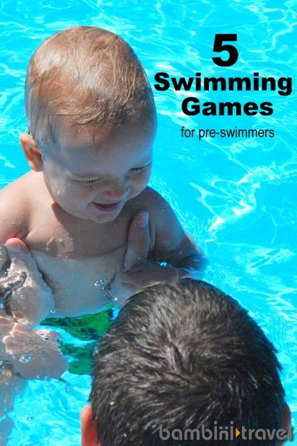 5 Swimming Games for Pre Swimmers | perfectnfor playing in the pool with a baby or toddler | Bambini Travel