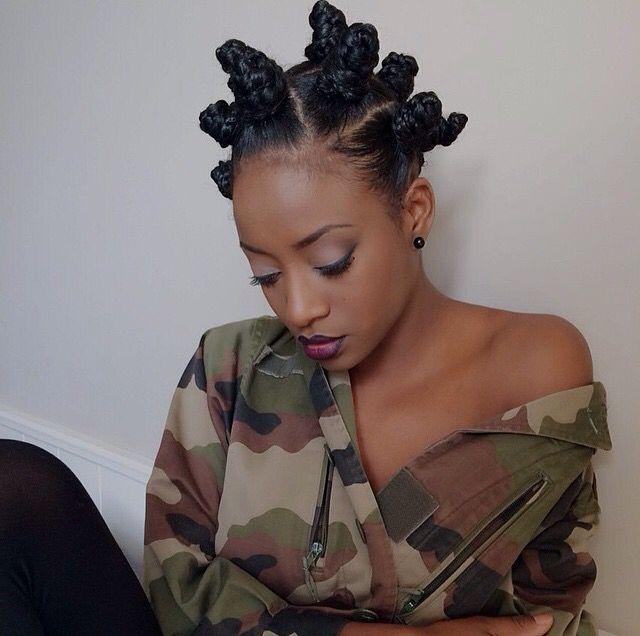 BANTU KNOTS http://www.shorthaircutsforblackwomen.com/bantu-knot-out/
