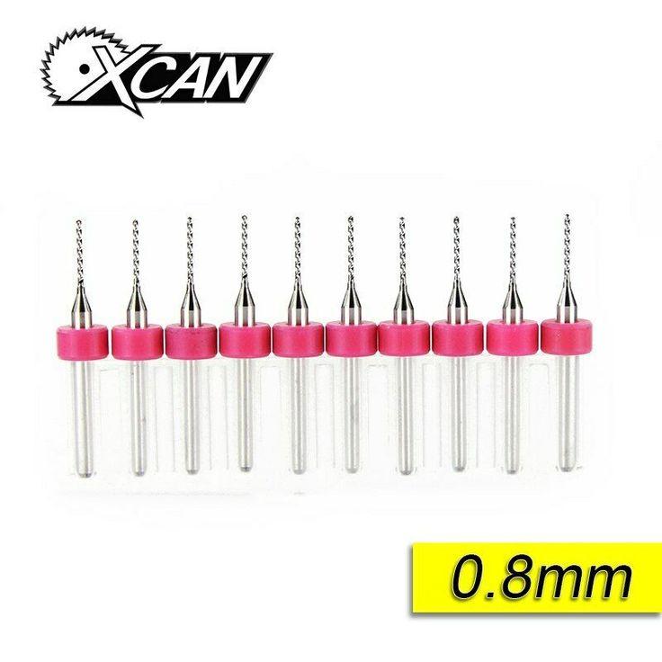 New 10pcs//lot 0.8mm Carbide Micro Drill Bits CNC PCB Drill Bit Set