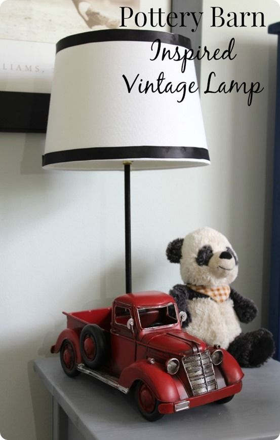 DIY Home Decor | Vintage Truck Lamp {a Pottery Barn Kids knock off}