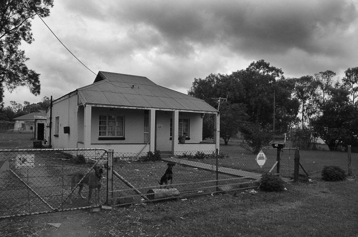 House in Parys with dogs in the garden...