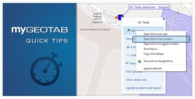 quick MyGeotab software tips