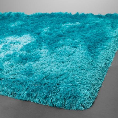 bold aqua blue shag rug - Fluffy Rugs