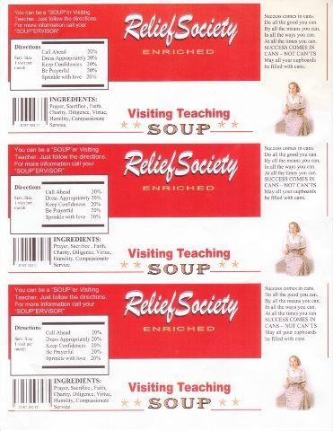 RS soup labels printable plus VT conference ideas
