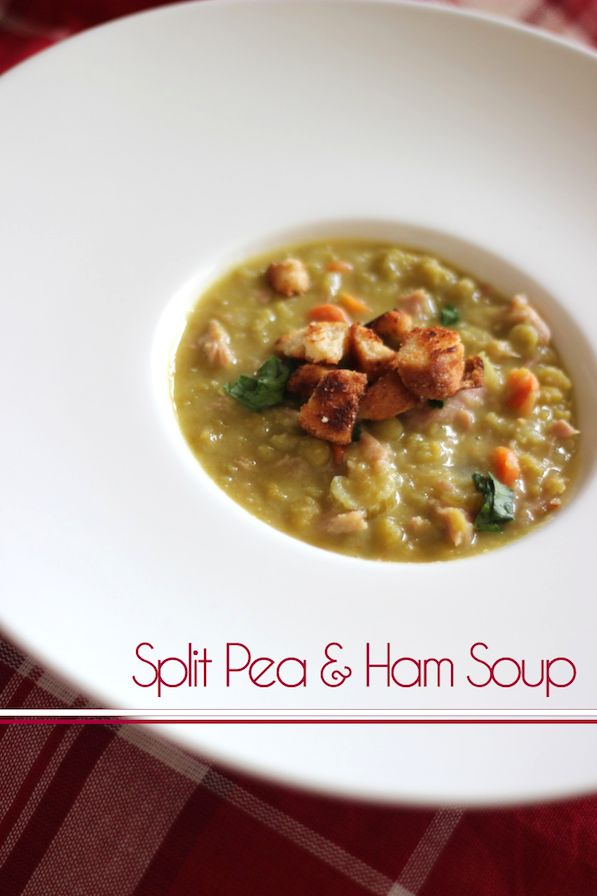 Copy of Americas Test Kitchen Split Pea and Ham Soup with Buttery Croutons!  Very yummy!