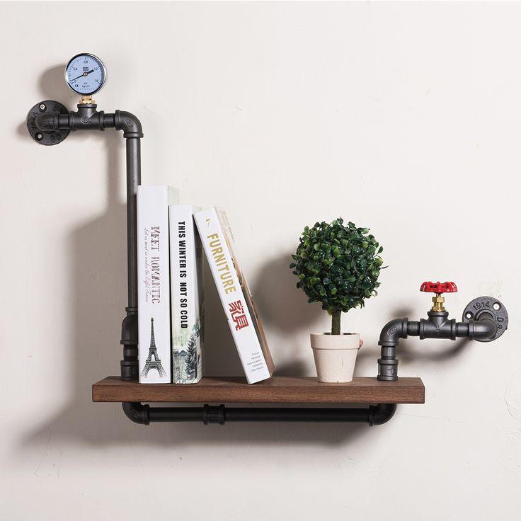 Loft Gaya Furniture Hiasan Dinding Pipa Besi Buku Rak Kreatif Art Display Rak Buku Rak Rak Buku Dekoratif FJ-ZN1Y-005A0